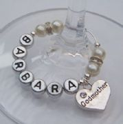 Godmother Personalised Wine Glass Charm - Elegance Style